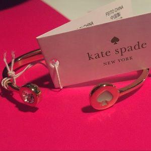 Kate Spade Mint Spot the Spade Hinged Bracelet